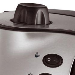 IMAGEM 4: CAFETEIRA EXPRESSO MONDIAL COFFEE CREAM PREMIUM - PRETA E PRATA