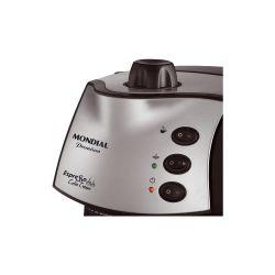 IMAGEM 6: CAFETEIRA EXPRESSO MONDIAL COFFEE CREAM PREMIUM - PRETA E PRATA