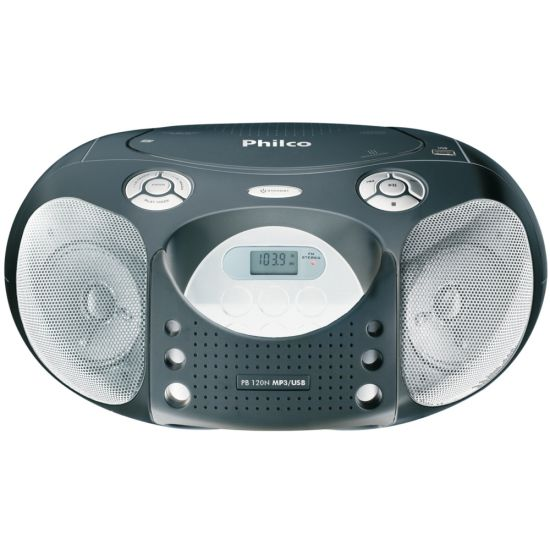 R�DIO PORT�TIL PB 120 - PHILCO AM/FM , CD , MP3 , USB , 4W RMS - PRETO