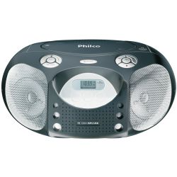 IMAGEM 1: R�DIO PORT�TIL PB 120 - PHILCO AM/FM , CD , MP3 , USB , 4W RMS - PRETO