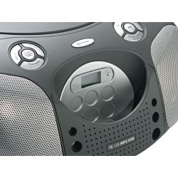 IMAGEM 2: R�DIO PORT�TIL PB 120 - PHILCO AM/FM , CD , MP3 , USB , 4W RMS - PRETO