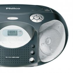 IMAGEM 6: R�DIO PORT�TIL PB 120 - PHILCO AM/FM , CD , MP3 , USB , 4W RMS - PRETO