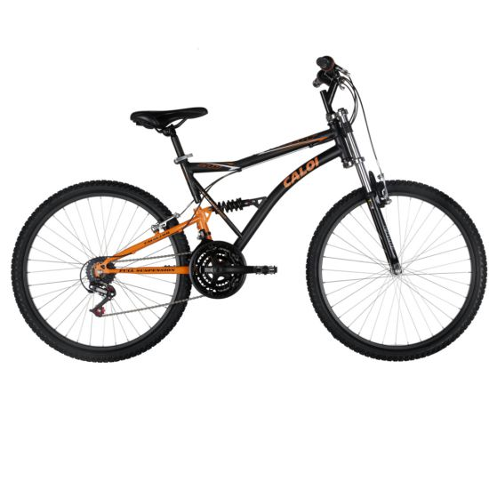 BICICLETA CALOI XRT 21V FULL SUSPENSION ADULTO - PRETO/LARANJA