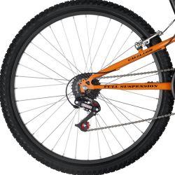 IMAGEM 4: BICICLETA CALOI XRT 21V FULL SUSPENSION ADULTO - PRETO/LARANJA