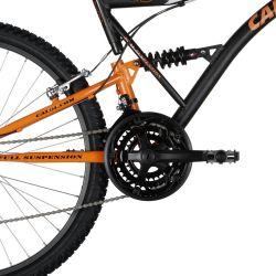 IMAGEM 5: BICICLETA CALOI XRT 21V FULL SUSPENSION ADULTO - PRETO/LARANJA