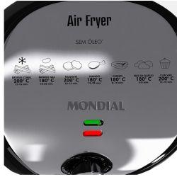 IMAGEM 3: FRITADEIRA ELÉTRICA MONDIAL AF-01 AIR FRYER PREMIUM (NÃO NECESSITA ÓLEO) - PRETA E INOX