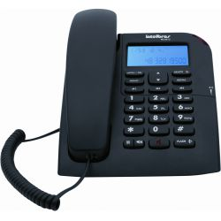IMAGEM 2: TELEFONE COM FIO INTELBRAS TC 60 ID COM IDENTIFICADOR DE CHAMADA E VIVA-VOZ - PRETO