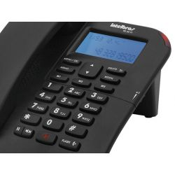 IMAGEM 3: TELEFONE COM FIO INTELBRAS TC 60 ID COM IDENTIFICADOR DE CHAMADA E VIVA-VOZ - PRETO