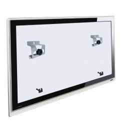 IMAGEM 1: SUPORTE FIXO MULTIVISÃO INFINITI PARA TODAS TVS LCD/PLASMA/LED - PRATA