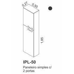 IMAGEM 2: PANELEIRO SIMPLES ITATIAIA ALLEGRO EM MADEIRA - 2 PORTAS - PRETO E BRANCO