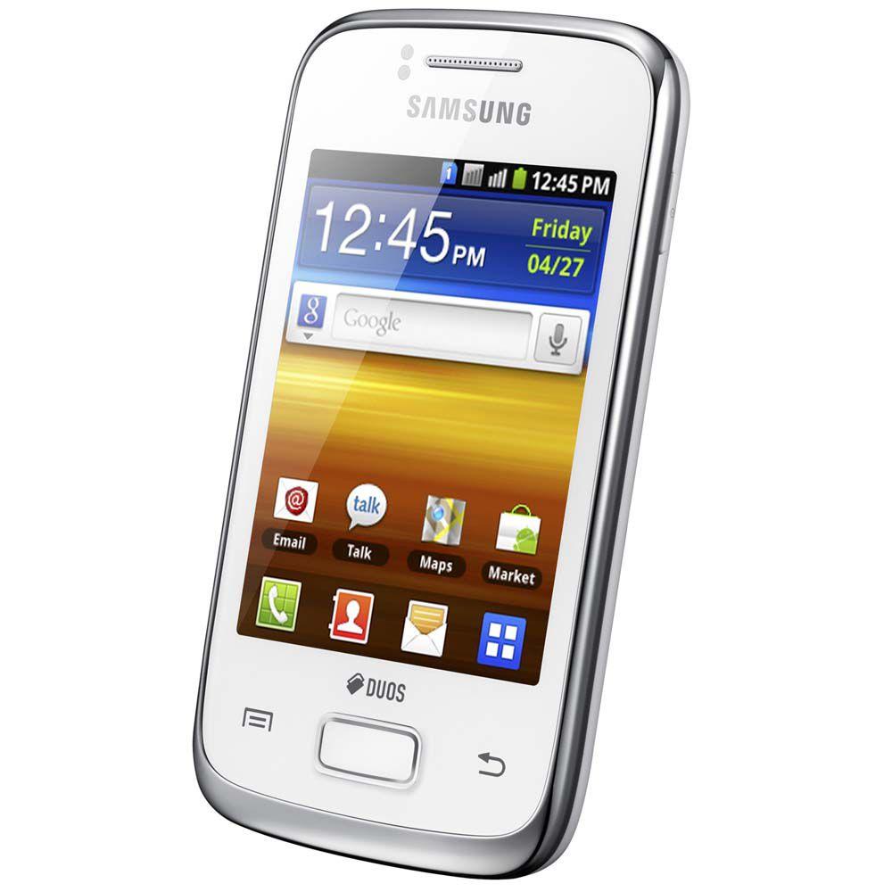 Celular Desbloqueado TIM Samsung Galaxy Y Duos S6102 Preto
