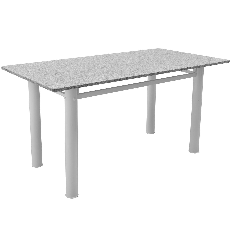 Mesa metalmix madrid granito branco gn ocre j mahfuz - Mesa de granito ...