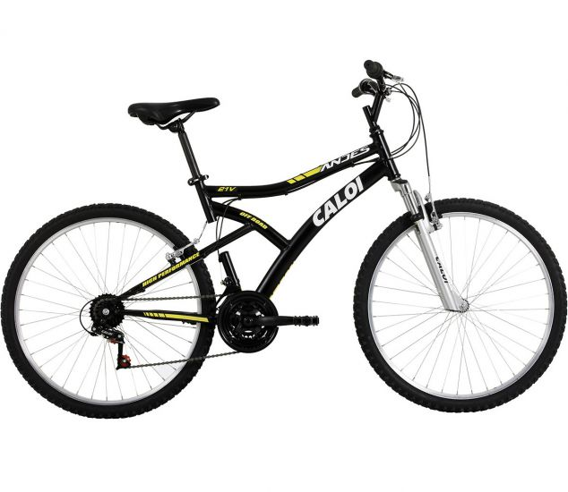 BICICLETA CALOI MOUNTAIN BIKE ANDES - ARO 26 - PRETO FOSCO