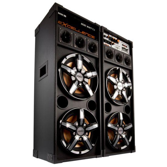 "CAIXA AMPLIFICADA NKS PK 5000 EXCELLENCE - 600W DE POTÊNCIA - ENTRADA USB - ALTO FALANTE DE 10"" - DISPLAY LCD - BIVOLT"