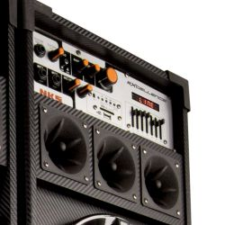 "IMAGEM 2: CAIXA AMPLIFICADA NKS PK 5000 EXCELLENCE - 600W DE POTÊNCIA - ENTRADA USB - ALTO FALANTE DE 10"" - DISPLAY LCD - BIVOLT"