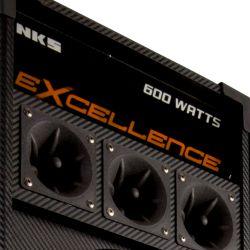 "IMAGEM 3: CAIXA AMPLIFICADA NKS PK 5000 EXCELLENCE - 600W DE POTÊNCIA - ENTRADA USB - ALTO FALANTE DE 10"" - DISPLAY LCD - BIVOLT"