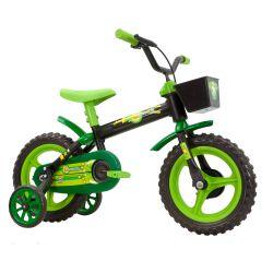 IMAGEM 1: BICICLETA INFANTIL MASCULINA TRACK & BIKES NOVA ARCO ÍRIS - ARO 12 - VERDE/PRETO
