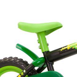 IMAGEM 3: BICICLETA INFANTIL MASCULINA TRACK & BIKES NOVA ARCO ÍRIS - ARO 12 - VERDE/PRETO