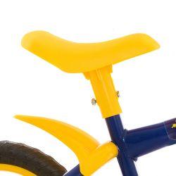 IMAGEM 4: BICICLETA INFANTIL MASCULINA TRACK & BIKES NOVA ARCO ÍRIS - ARO 12 - AMARELO/AZUL