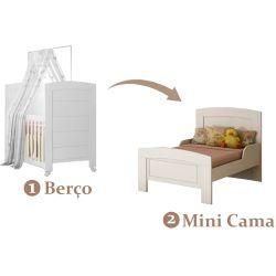 IMAGEM 4: BERÇO E MINICAMA CAROLINA MÓVEIS CLÉO - 100% MDF - BRANCO