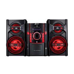 IMAGEM 1: MINI SYSTEM LENOXX MS 844 COM CD PLAYER - MP3 - USB - RÁDIO FM - ENTRADA AUXILIAR -  PRETO E VERMELHO