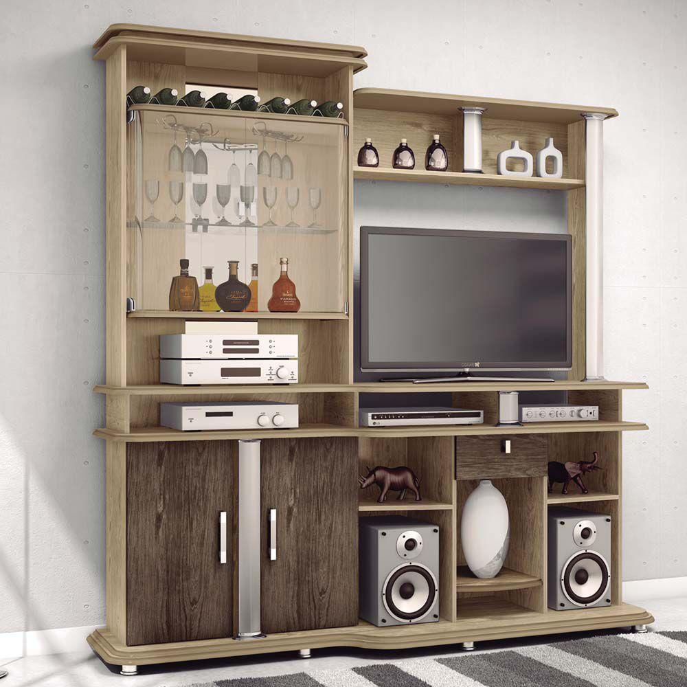 Estante jb bechara 3040 material mdf e mdp espa o para - Estante para televisor ...