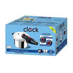 IMAGEM 2: PANELA DE PRESSÃO CLOCK CONFORTO 4,5 LITROS - POLIDA