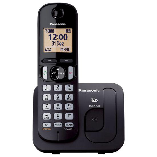 TELEFONE SEM FIO PANASONIC KX-TGC210LBB - IDENTIFICADOR DE CHAMADAS - TECLADO ILUMINADO - PRETO