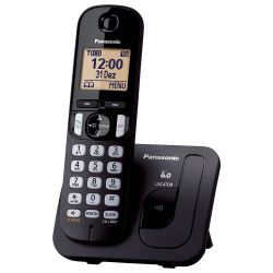 IMAGEM 2: TELEFONE SEM FIO PANASONIC KX-TGC210LBB - IDENTIFICADOR DE CHAMADAS - TECLADO ILUMINADO - PRETO