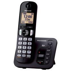 IMAGEM 2: TELEFONE SEM FIO PANASONIC KX-TGC220LBB - SECRETÁRIA ELETRÔNICA - TECLADO ILUMINADO - PRETO