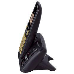 IMAGEM 3: TELEFONE SEM FIO PANASONIC KX-TGC220LBB - SECRETÁRIA ELETRÔNICA - TECLADO ILUMINADO - PRETO