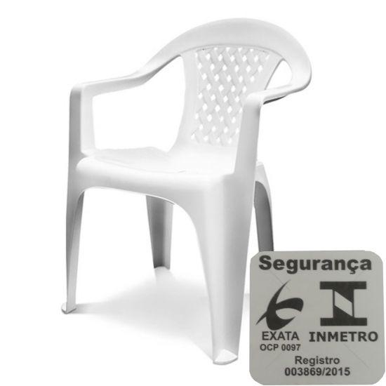 CADEIRA PLÁSTICA DOLFIN VANNY COM BRAÇO - BRANCA