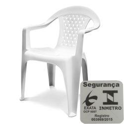 IMAGEM 1: CADEIRA PLÁSTICA DOLFIN VANNY COM BRAÇO - BRANCA