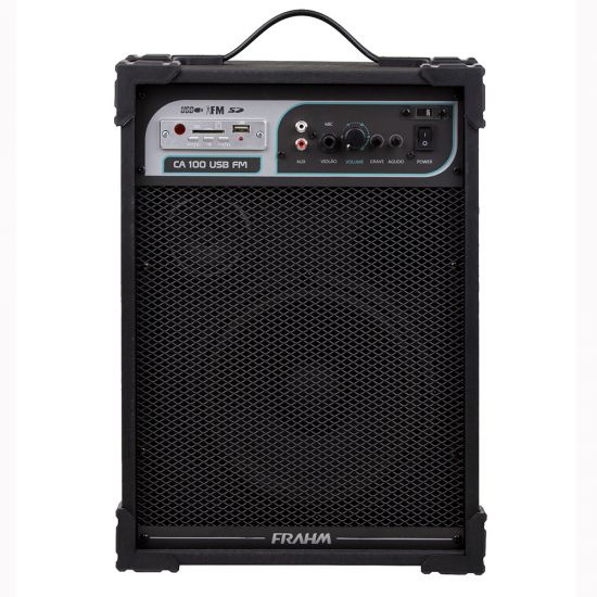 CAIXA ACÚSTICA FRAHM CA 100 50W COM USB FM E AUXILIAR