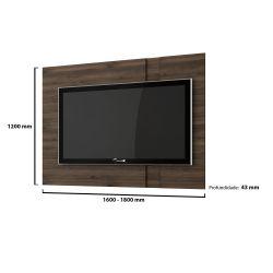 IMAGEM 2: PAINEL DE TV PARA SALA CAPUCCINO MERIDIAN GERMAI - 180 X 120