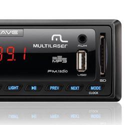 IMAGEM 3: SOM AUTOMOTIVO MULTILASER P3265 WAVE FIESTA - ENTRADA USB - LEITOR DE CARTÃO SD - MP3 - PRETO