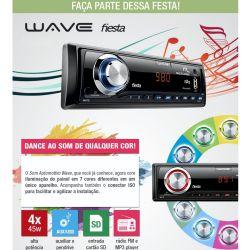 IMAGEM 4: SOM AUTOMOTIVO MULTILASER P3265 WAVE FIESTA - ENTRADA USB - LEITOR DE CARTÃO SD - MP3 - PRETO