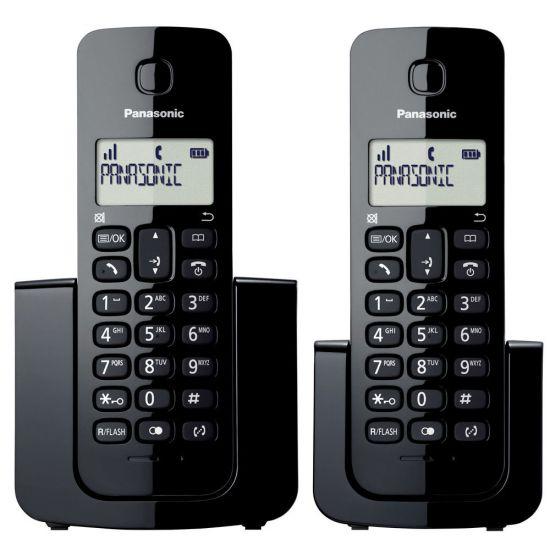 TELEFONE SEM FIO  KX-TGB112LBB PANASONIC - VISOR COM IDENTIFICADOR DE CHAMADAS - MODO ECO - PRETO