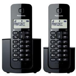 IMAGEM 1: TELEFONE SEM FIO  KX-TGB112LBB PANASONIC - VISOR COM IDENTIFICADOR DE CHAMADAS - MODO ECO - PRETO