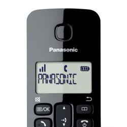 IMAGEM 2: TELEFONE SEM FIO  KX-TGB112LBB PANASONIC - VISOR COM IDENTIFICADOR DE CHAMADAS - MODO ECO - PRETO
