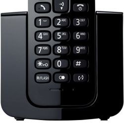 IMAGEM 2: TELEFONE SEM FIO  KX-TGB110LBB PANASONIC - VISOR COM IDENTIFICADOR DE CHAMADAS - MODO ECO - PRETO