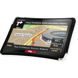 """IMAGEM 2: GPS AQUARIUS GUIA QUATRO RODAS - TELA 4.3"""" SLIM - TV DIGITAL - 2GB MEMÓRIA INTERNA - ENTRADAS USB E MICRO SD - PRETO"""