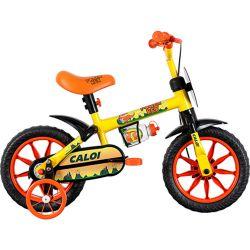 IMAGEM 1: BICICLETA INFANTIL CALOI POWER REX - ARO 12 - AMARELA