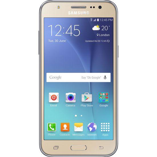 """SMARTPHONE SAMSUNG GALAXY J5 DUOS  - ANDROID 5.1 - CÂMERA 13MP - TELA 5"""" SUPER AMOLED - INTERNET 4G - DOURADO"""