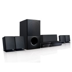 IMAGEM 1: HOME THEATER LG LHD625 COM CONEXÃO WIRELESS - FULL HD - BLUETOOTH - USB - PRETO