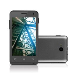 IMAGEM 1: SMARTPHONE MULTILASER  MS40 - DUAL CHIP - QUAD-CORE 1.2GHZ - ANDROID 4.4 KITKAT - CÂMERA TRASEIRA 5MP - FRONTAL 2MP - 3G - WI-FI - PRETO