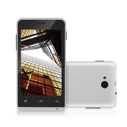 IMAGEM 1: SMARTPHONE MULTILASER  MS40 - DUAL CHIP - QUAD-CORE 1.2GHZ - ANDROID 4.4 KITKAT - CÂMERA TRASEIRA 5MP - FRONTAL 2MP - 3G - WI-FI - BRANCO