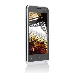 IMAGEM 2: SMARTPHONE MULTILASER  MS40 - DUAL CHIP - QUAD-CORE 1.2GHZ - ANDROID 4.4 KITKAT - CÂMERA TRASEIRA 5MP - FRONTAL 2MP - 3G - WI-FI - BRANCO