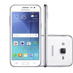 IMAGEM 1: SMARTPHONE DESBLOQUEADO GALAXY J2  DUOS CLARO - CÂMERA 5MP - DUAL CHIP - PROCESSADOR QUAD-CORE 1.2GHZ - ANDROID 5.1 - BRANCO