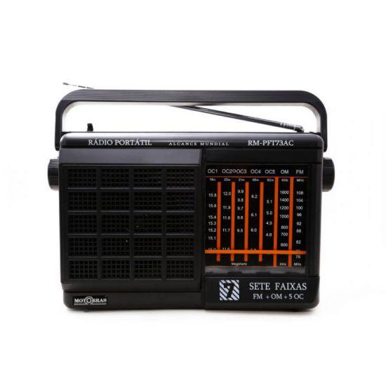 RÁDIO MOTOBRAS RM-PFT73AC - AM/FM - PRETO